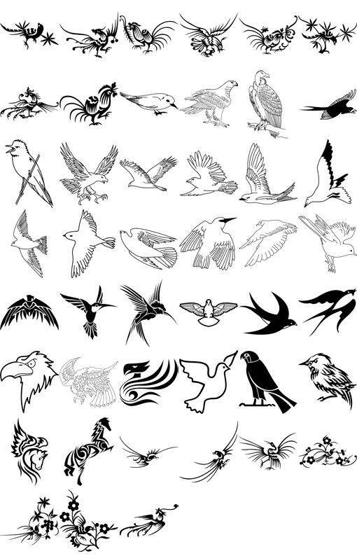 Эскизы тату для девушек на ногу птицы